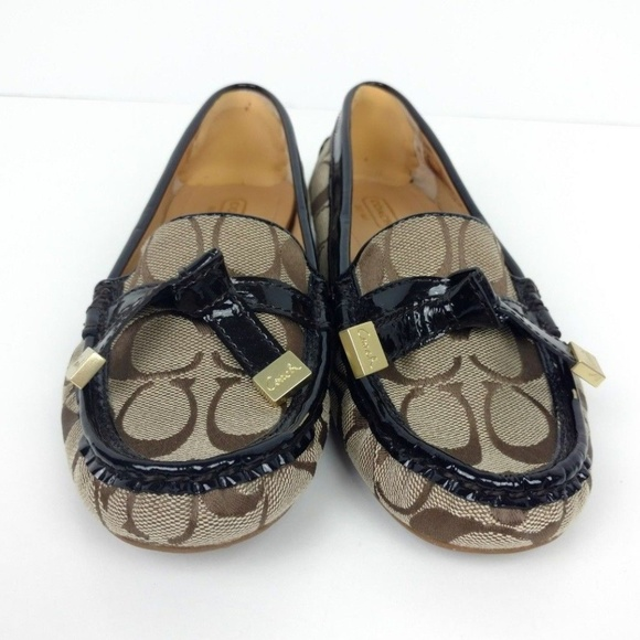 Frida Poshmark Flat Coach Shoes Loafers 75 Size Brown 6pvqpZ5